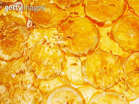 Orange slices under water - gettyimageskorea