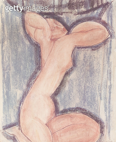 <b>Title</b> : Caryatid (pastel on paper)<br><b>Medium</b> : pastel on paper<br><b>Location</b> : Musee d'Art Moderne de la Ville de Paris, Paris, France<br> - gettyimageskorea