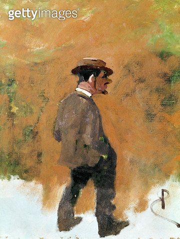 <b>Title</b> : Henri de Toulouse-Lautrec (1864-1901) aged 19, 1883 (oil on canvas)<br><b>Medium</b> : oil on canvas<br><b>Location</b> : Private Collection<br> - gettyimageskorea