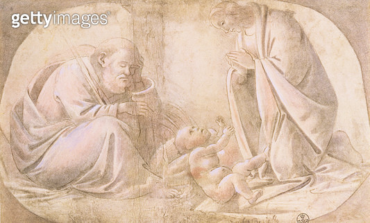 <b>Title</b> : Nativity (pen & ink with gouache)<br><b>Medium</b> : brown ink with white and brown gouache on paper<br><b>Location</b> : Gabinetto dei Disegni e Stampe, Uffizi, Florence, Italy<br> - gettyimageskorea