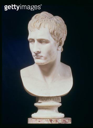 <b>Title</b> : Portrait bust of Napoleon Bonaparte (1769-1821) by Antonio Canova (1757-1822) (marble)<br><b>Medium</b> : <br><b>Location</b> : Galleria d'Arte Moderna, Florence, Italy<br> - gettyimageskorea