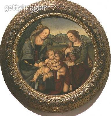 <b>Title</b> : Madonna and Child with St. Elizabeth and the Infant St. John the Baptist (panel)<br><b>Medium</b> : oil on panel<br><b>Location</b> : Galleria dell' Accademia, Florence, Italy<br> - gettyimageskorea