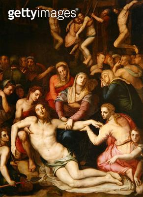 <b>Title</b> : Deposition from the Cross (oil on canvas)<br><b>Medium</b> : oil on canvas<br><b>Location</b> : Galleria dell' Accademia, Florence, Italy<br> - gettyimageskorea