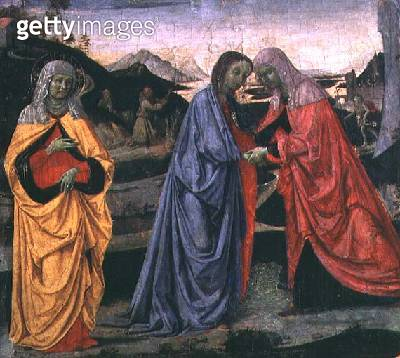 <b>Title</b> : The Visitation (tempera on panel)<br><b>Medium</b> : tempera on panel<br><b>Location</b> : Galleria dell' Accademia, Florence, Italy<br> - gettyimageskorea