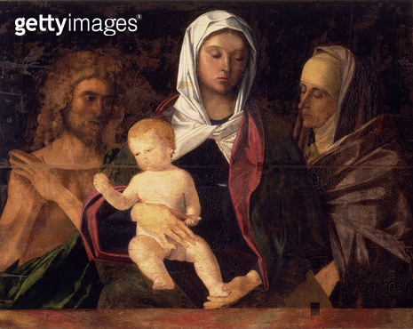 <b>Title</b> : Madonna and Child with St. John the Baptist and St. Anne (panel)<br><b>Medium</b> : <br><b>Location</b> : Palazzo Ducale, Urbino, Italy<br> - gettyimageskorea