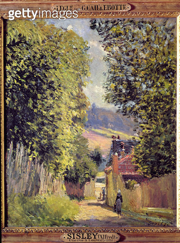 <b>Title</b> : A Road in Louveciennes, 1883 (oil on canvas)<br><b>Medium</b> : oil on canvas<br><b>Location</b> : Musee d'Art et d'Histoire, Palais Massena, Nice, France<br> - gettyimageskorea