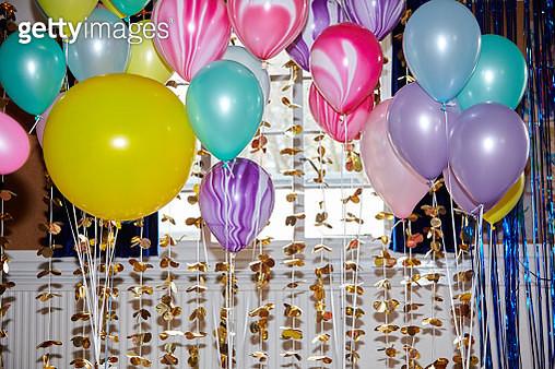 Still life of helium balloons - gettyimageskorea
