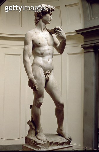 <b>Title</b> : David, sculpture by Michelangelo Buonarroti (1475-1564), 1501-4 (marble) (see also 4344)<br><b>Medium</b> : marble<br><b>Location</b> : Galleria dell' Accademia, Florence, Italy<br> - gettyimageskorea