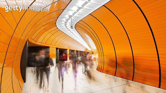 Colourful subway station in Munich Germany - gettyimageskorea