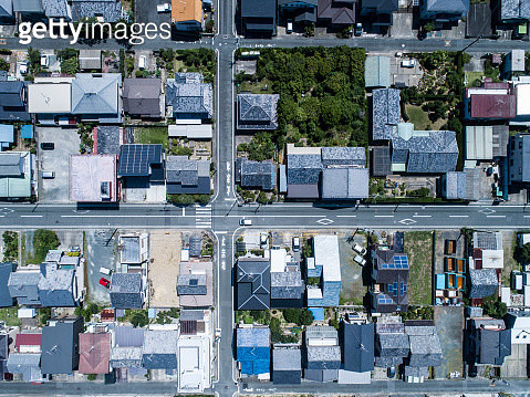 Aerial view of residential area - gettyimageskorea