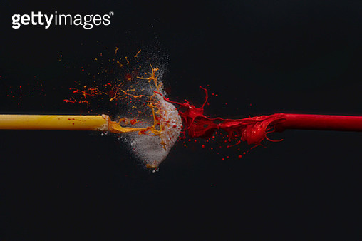 acrylic colors fired with compressed air - gettyimageskorea