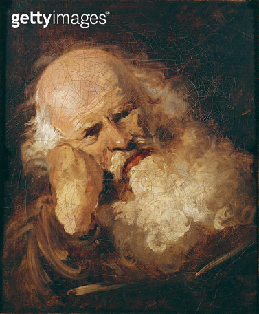 <b>Title</b> : Head of an Old Man (oil on canvas)<br><b>Medium</b> : <br><b>Location</b> : Musee des Beaux-Arts, Strasbourg, France<br> - gettyimageskorea