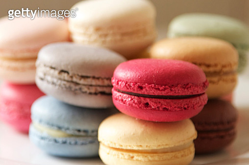 Close-Up Of Macaroons On Table - gettyimageskorea