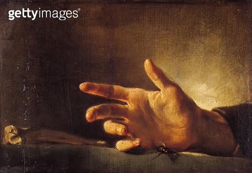 <b>Title</b> : Study of a Hand (oil on canvas)<br><b>Medium</b> : oil on canvas<br><b>Location</b> : Musee Bonnat, Bayonne, France<br> - gettyimageskorea