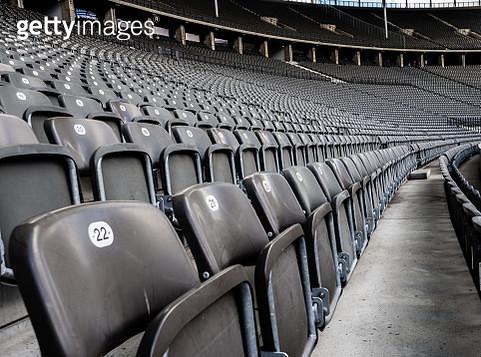 Empty Bleachers In Stadium - gettyimageskorea