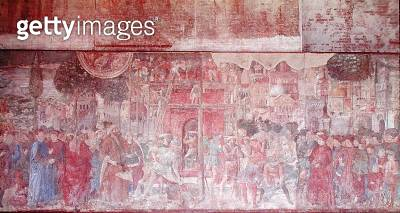 <b>Title</b> : The Tower of Babel, 1468-84 (fresco)<br><b>Medium</b> : fresco<br><b>Location</b> : Camposanto e Museo dell'Opera, Piazza Duomo, Pisa, Italy<br> - gettyimageskorea