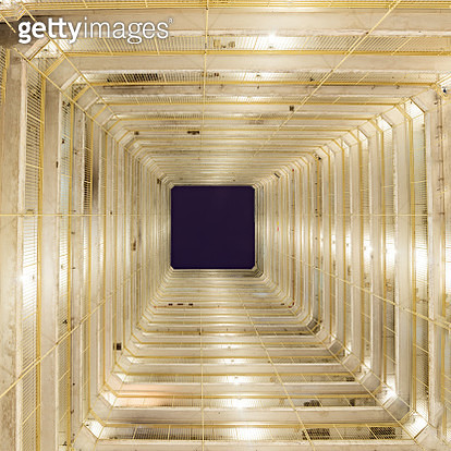 Bottom view of a local residential estate in Hong Kong - gettyimageskorea