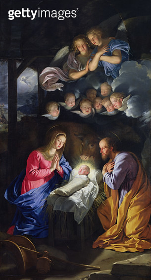 <b>Title</b> : Nativity (oil on canvas)<br><b>Medium</b> : oil on canvas<br><b>Location</b> : Musee des Beaux-Arts, Lille, France<br> - gettyimageskorea