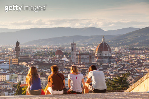 Looking over Florence from San Miniato - gettyimageskorea