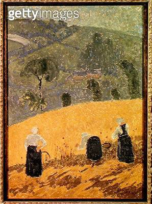 <b>Title</b> : The Harvest (oil on canvas)<br><b>Medium</b> : oil on canvas<br><b>Location</b> : Musee des Beaux-Arts, Nantes, France<br> - gettyimageskorea