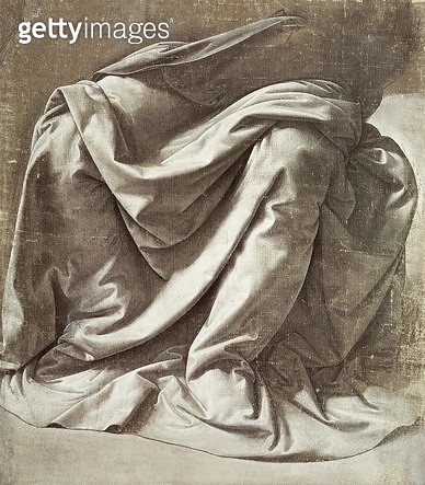 <b>Title</b> : Study of Drapery (oil on canvas)<br><b>Medium</b> : oil on canvas<br><b>Location</b> : Louvre, Paris, France<br> - gettyimageskorea