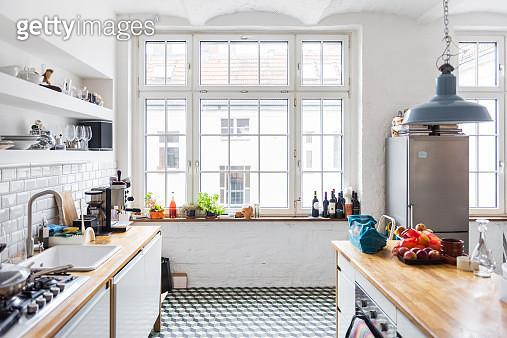 Modern and bright Loft kitchen - gettyimageskorea