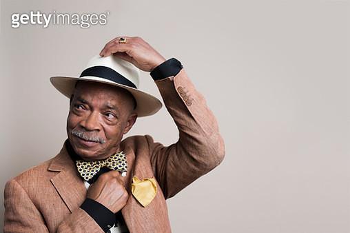 Portrait of a stylish senior man - gettyimageskorea