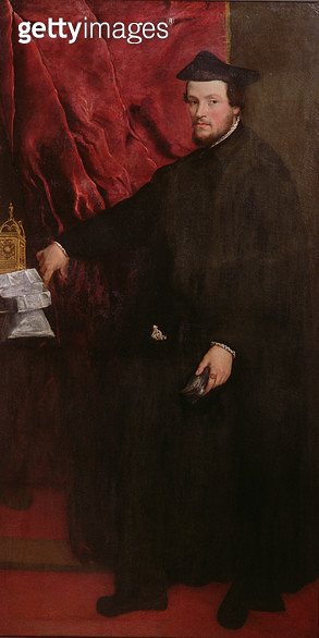 <b>Title</b> : Portrait of Cristoforo Madruzzo, Cardinal and Bishop of Trent, 1552<br><b>Medium</b> : oil on canvas<br><b>Location</b> : Museu de Arte, Sao Paulo, Brazil<br> - gettyimageskorea