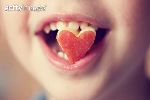 Heart cut of apple - gettyimageskorea