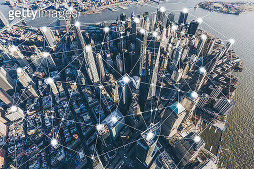 Digital City of Manhattan - gettyimageskorea