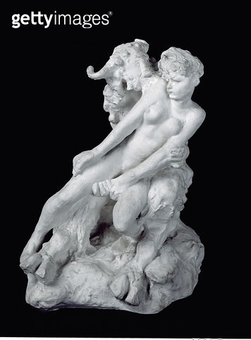 <b>Title</b> : Faun and Nymph, c.1886 (plaster)Additional Infoillustrates Greek legend of the minotaur born from the union between Pasiphae, wi<br><b>Medium</b> : plaster<br><b>Location</b> : Musee Marmottan, Paris, France<br> - gettyimageskorea