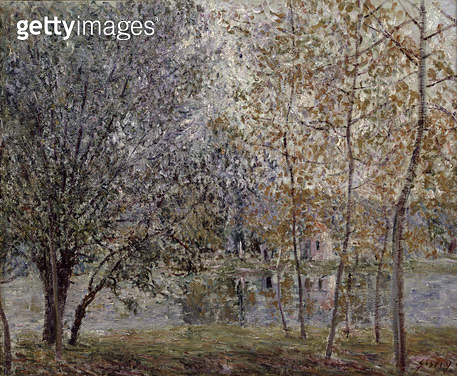 <b>Title</b> : The Loing Canal in Spring, 1892 (oil on canvas)<br><b>Medium</b> : oil on canvas<br><b>Location</b> : Musee Marmottan, Paris, France<br> - gettyimageskorea