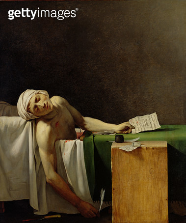 <b>Title</b> : The Death of Marat, after the original by Jacques-Louis David (1748-1825) (oil on canvas)<br><b>Medium</b> : oil on canvas<br><b>Location</b> : Chateau de Versailles, France<br> - gettyimageskorea