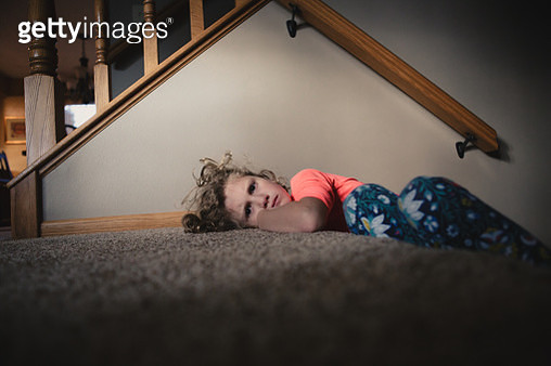 Child Scowling at the camera - gettyimageskorea