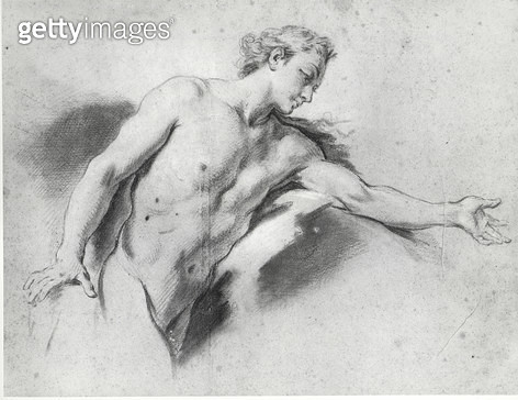 <b>Title</b> : Nude study (pencil)<br><b>Medium</b> : pencil on paper<br><b>Location</b> : Private Collection<br> - gettyimageskorea