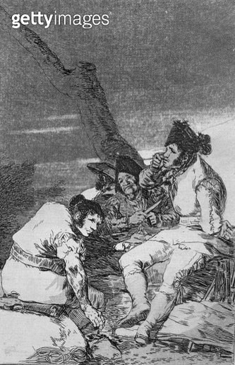 <b>Title</b> : 193-0082111 Lads making ready, plate 11 of 'Los caprichos', pub. 1799 (etching)<br><b>Medium</b> : etching, burnished aquatint and burin<br><b>Location</b> : Private Collection<br> - gettyimageskorea