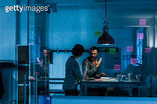 Business people working overtime - gettyimageskorea