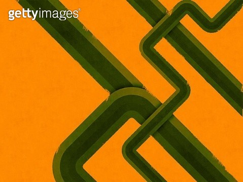 Pipe On Orange Background Abstract - gettyimageskorea