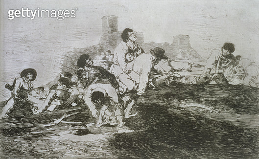 <b>Title</b> : They can still be of use, plate 24 of 'The Disasters of War', 1810-14, pub. 1863 (etching)Additional InfoLos desastres de la gue<br><b>Medium</b> : etching and burnisher<br><b>Location</b> : Private Collection<br> - gettyimageskorea
