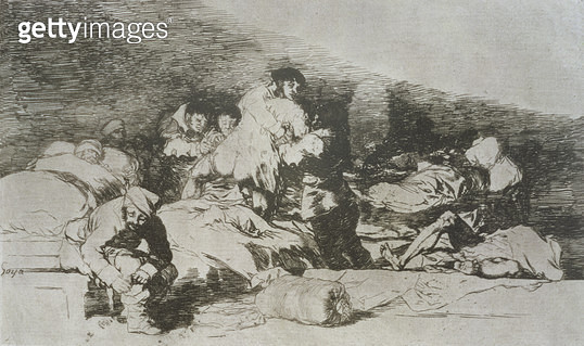 <b>Title</b> : These too, plate 25 of 'The Disasters of War', 1810-14, pub. 1863 (etching)Additional InfoLos desastres de la guerra;<br><b>Medium</b> : etching, drypoint and burin<br><b>Location</b> : Private Collection<br> - gettyimageskorea