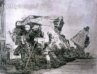 <b>Title</b> : This is not less so, plate 67 of 'The Disasters of War', 1810-14, pub. 1863 (etching)Additional InfoLos desastres de la guerra;<br><b>Medium</b> : etching, lavis, burnished aquatint, drypoint, burin<br><b>Location</b> : Private Collection<b - gettyimageskorea