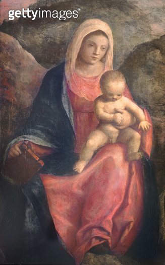 <b>Title</b> : Madonna and Child (panel)<br><b>Medium</b> : oil on panel<br><b>Location</b> : Private Collection<br> - gettyimageskorea