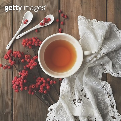 Red berries and tea - gettyimageskorea