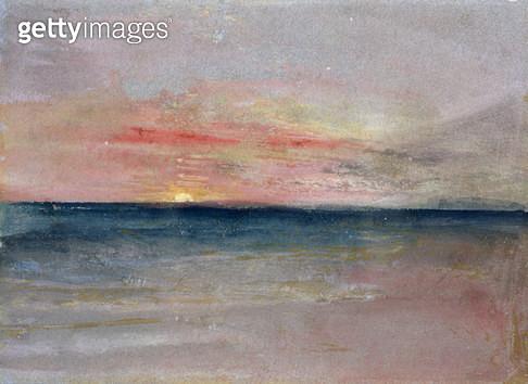 <b>Title</b> : Sunset (w/c)<br><b>Medium</b> : <br><b>Location</b> : Private Collection<br> - gettyimageskorea
