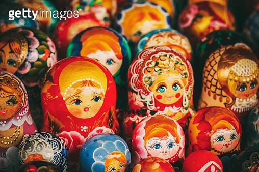 Full Frame Shot Of Babushkas For Sale At Market Stall - gettyimageskorea
