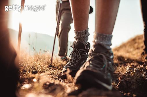 Friends Hiking - gettyimageskorea