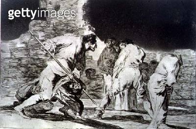 <b>Title</b> : Riddle of fury, plate 6 of 'Proverbs', 1819-23, pub. 1864 (etching)<br><b>Medium</b> : etching and burnished aquatint<br><b>Location</b> : Private Collection<br> - gettyimageskorea