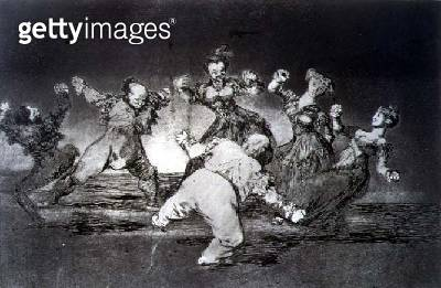 <b>Title</b> : Happy fantasy, plate 12 of 'Proverbs', 1819-23, pub. 1864 (etching)<br><b>Medium</b> : etching, burnished aquatint and drypoint<br><b>Location</b> : Private Collection<br> - gettyimageskorea