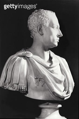 <b>Title</b> : Portrait bust of Francis I (1708-65), Holy Roman Emperor (marble)<br><b>Medium</b> : marble<br><b>Location</b> : Kunsthistorisches Museum, Vienna, Austria<br> - gettyimageskorea