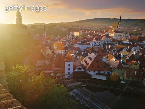 Cesky Krumlov at sunrise - Czech Republic - gettyimageskorea